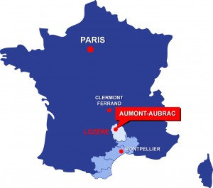 Situation géographique de la Grande Halle d'Aumont-Aubrac