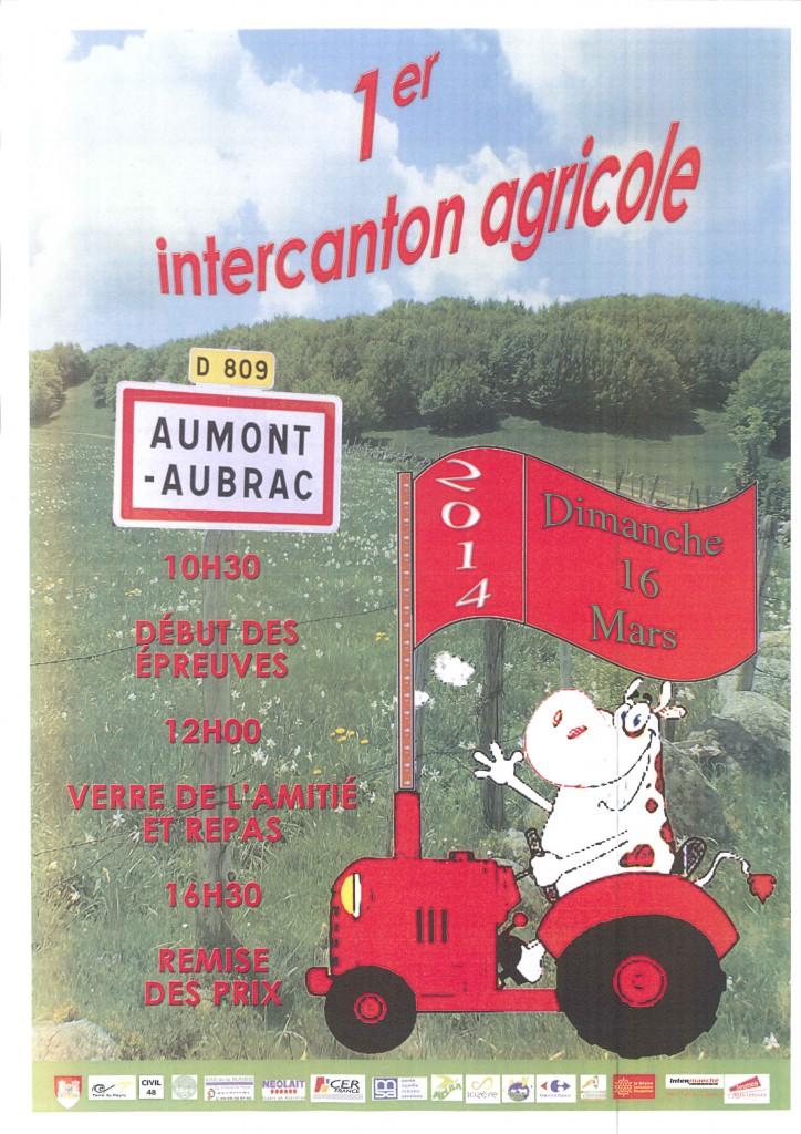 Premier Intercanton agricole à Aumont-Aubrac